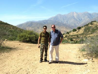 SI MUHAMMED IN THE FIELD WITH ASHLEY BUTLER IN MOROCCO
